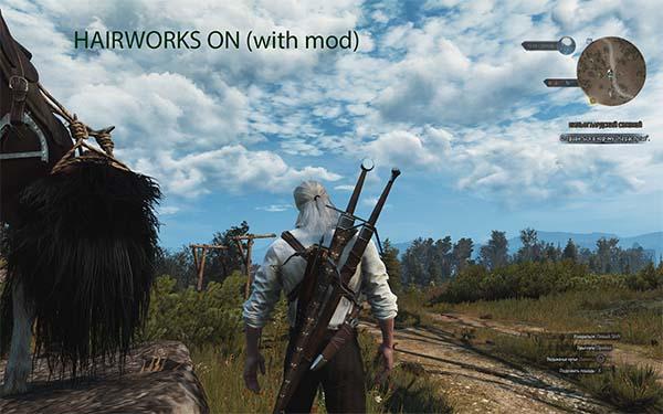 Hairworks on Everything but Geralt