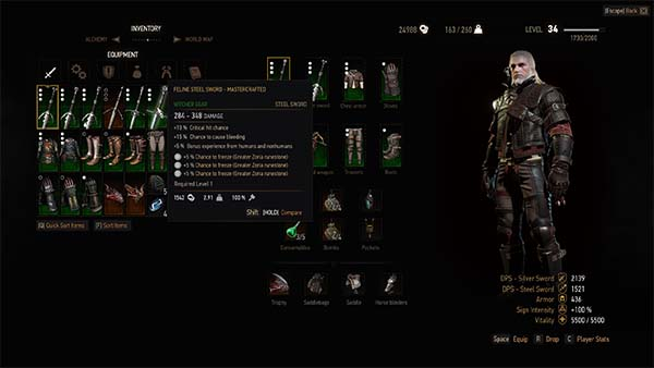 Unrestricted Witcher (and Crafting) Gear